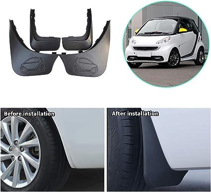 CDEFG pour Model 3 Garde-boues avant et arri/ère en plastique anti-boue Garde-boue anti-/éclaboussures 4 pi/èces Accessoire de voiture