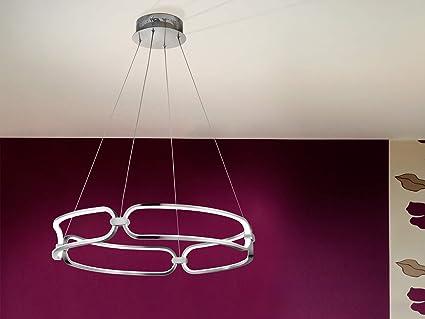 Schuller Colette Integrierter Led Deckenanhanger Chrom Amazon De Beleuchtung