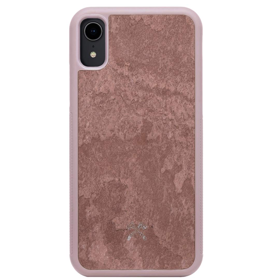 Woodcessories - Real Stone Case Compatible with iPhone Xr, EcoBump Stone (Canyon Red) by Woodcessories