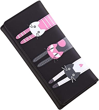 Womens Cute Cats Pattern Long Wallet /& Purse Case Card Holder