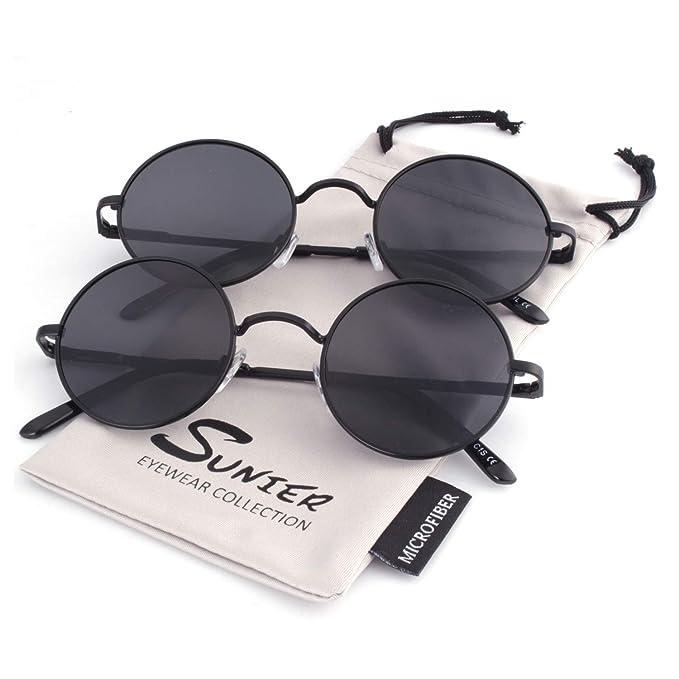 Amazon.com: SUNIER - Gafas de sol polaróidas redondas y ...