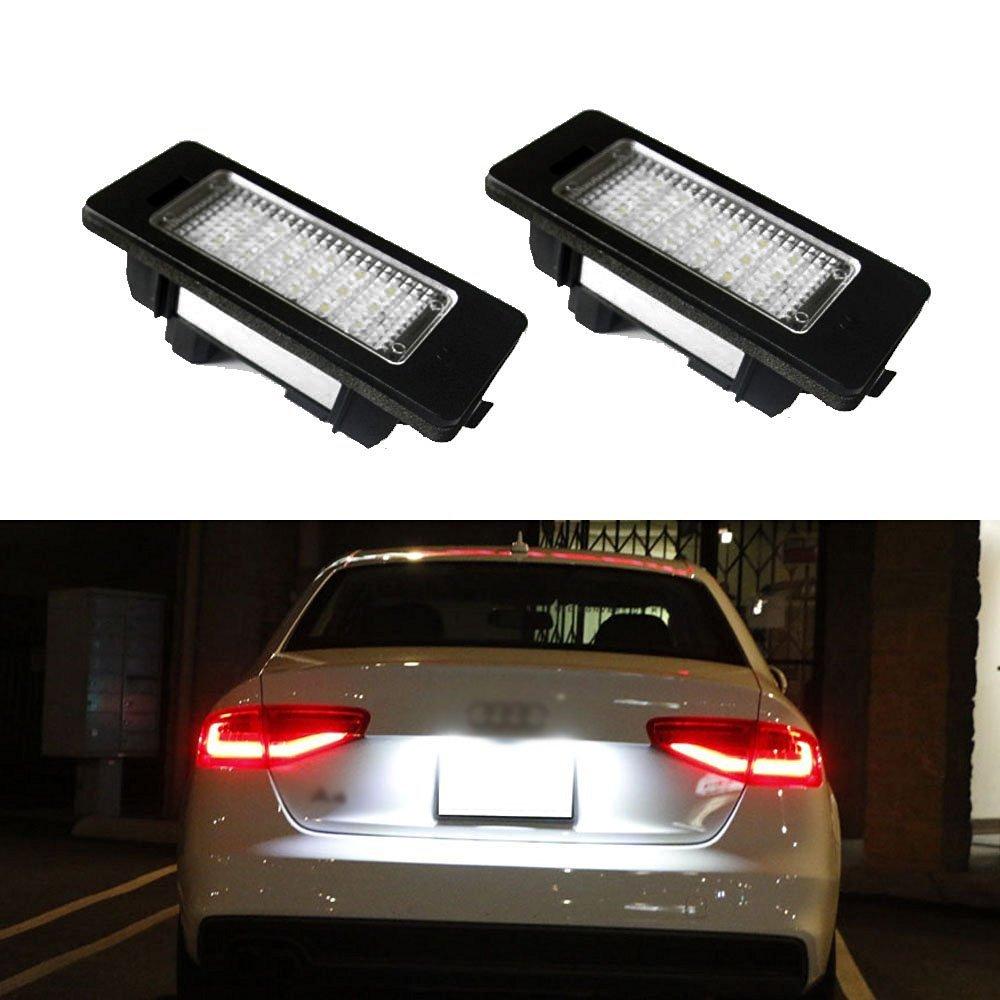 WEFIE 2x luci LED per l'illuminazione della targa - lampadine per illuminazione numero targa