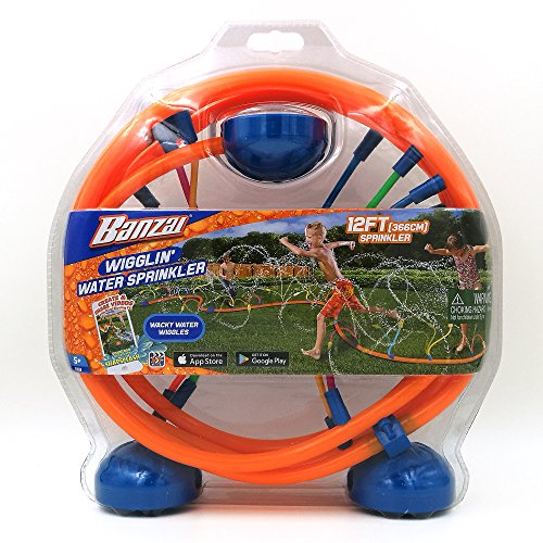 Banzai Wiggling Water Sprinkler (Discontinued by manufacturer) (Outdoor Banzai Toys)