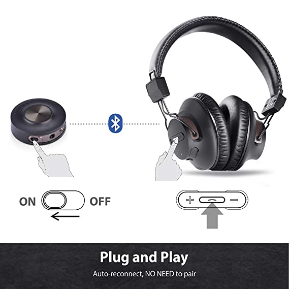 Avantree HT3189 Wireless Headphones for TV Watching w/ Bluetooth  Transmitter, Support RCA, AUX 3 5mm Audio Out, NOT For new TV with ONLY  Digital /