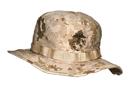 Amazon.com  G.I. USMC Desert MARPAT Boonie Caps - Size Small  Sports ... 9c2703bcb671