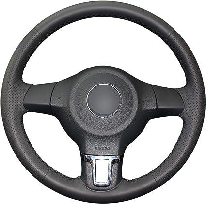LUVCARPB Cubierta del Volante del Coche, Ajuste para Volkswagen ...