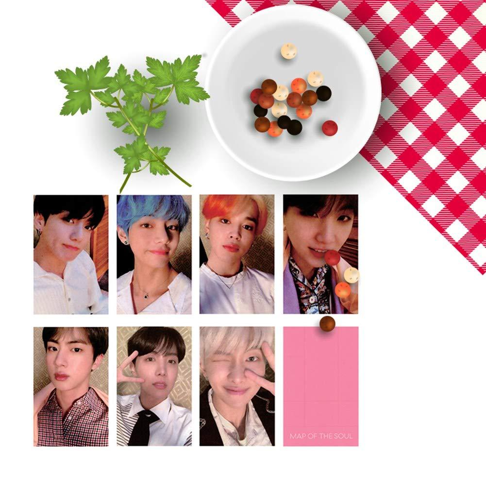 21 Pcs Mini Office Depot Kpop BTS Nuovo album Cartoline Lomo Cards Set Mini Photo Cards Miglior regalo per ARMY 7Pcs // Set