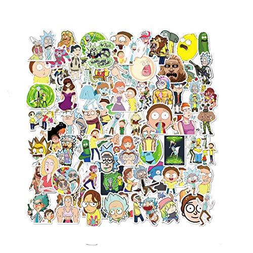 Allring 100 Stück Rick And Morty Aufkleber Wasserdicht Dekorative Aufkleber Vinyl Stickers Graffiti Decals Für Party Auto Motorräder Fahrrad Skateboard Snowboard Gepäck Laptop Computer Aufkleber Baby