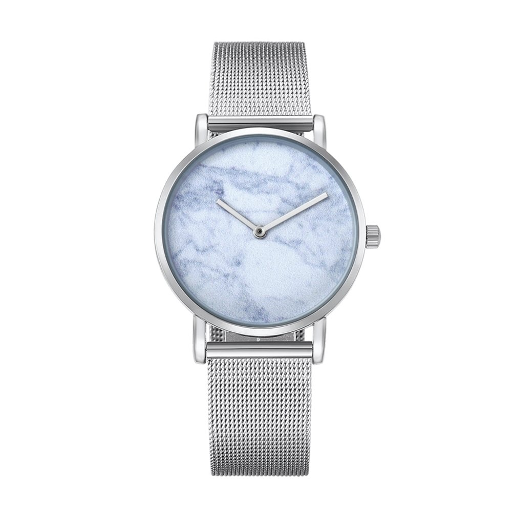Dig dog bone 6812 Round Dial Alloy Silver Case Fashion Women Watch Quartz Watches With Stainless Steel Band (SKU : Wa0730c)