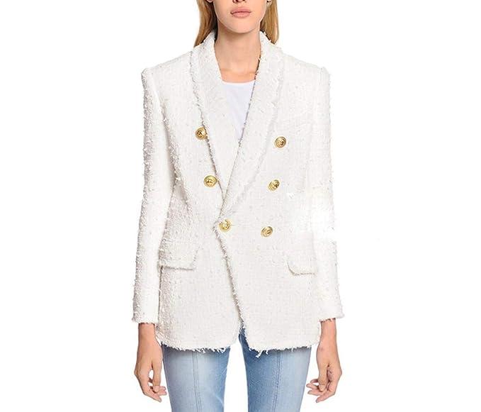 Amazon.com: Designer Blazer - Chaqueta para mujer con cuello ...
