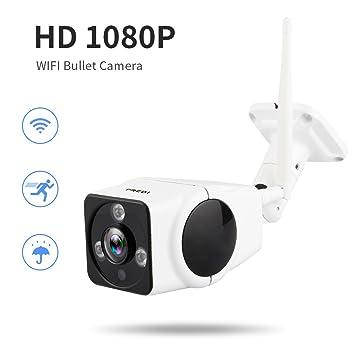 Cámara IP inalámbrica, HD 1080P, vigilancia exterior, Wifi, impermeable, cámara con