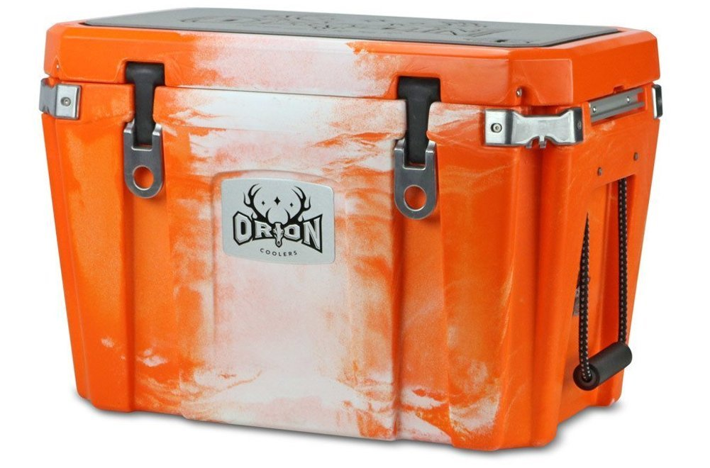 Orion Heavy Duty Premium Cooler 45 Quart, Blaze , Durable Insulated Outdoor Ice Chest for Maximum Cold Retention – Portable, Bear Resistant, and Long Lasting, Great for Hunting, Fishing, Camping