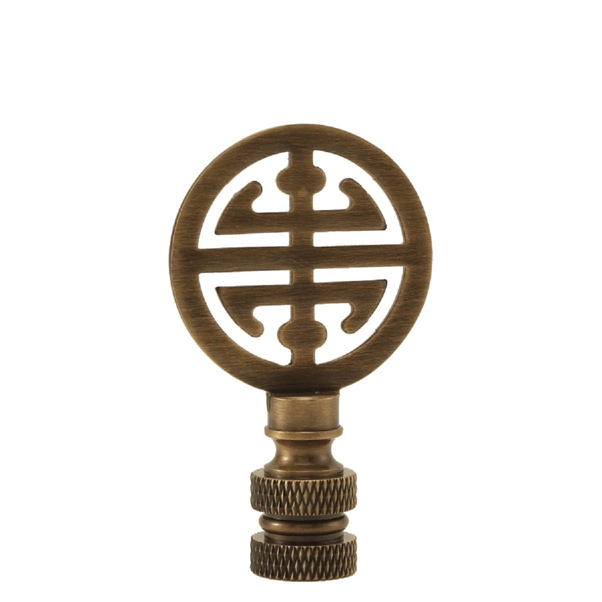 Asian Sign Lamp Finial -Antique Brass - Choice of Sizes -2.75 Inches (2.75 Inch)