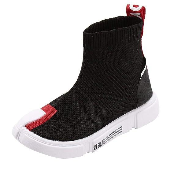 ZARLLE Calcetines Zapatos para Niños Unisexo Zapatos de Malla Transpirable Zapatillas Altas para Ayudar a Estirar los Zapatos Zapatos Casuales Niños ...