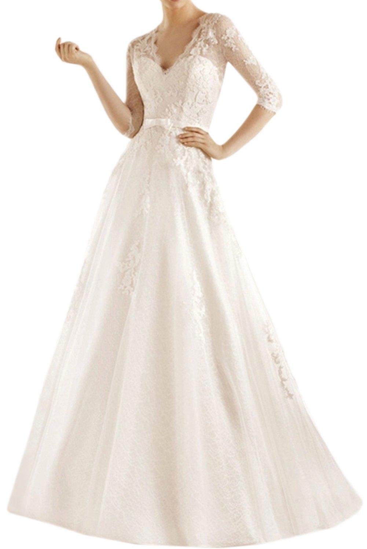 560209d6541d0 (ウィーン ブライド) Vienna Bride ウェディングドレス 花嫁ドレス ドレス トレーン ブライダル レディース  マーメイドベルトVネックファスナー背中開きV型 B07146Y67C ...