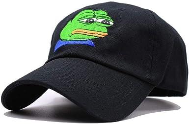 Men Women Sad Frog Embroidery Adjustable Dad Hat Baseball Cap Pepe Life Sucks Hat Black Dad Cap Strap Back