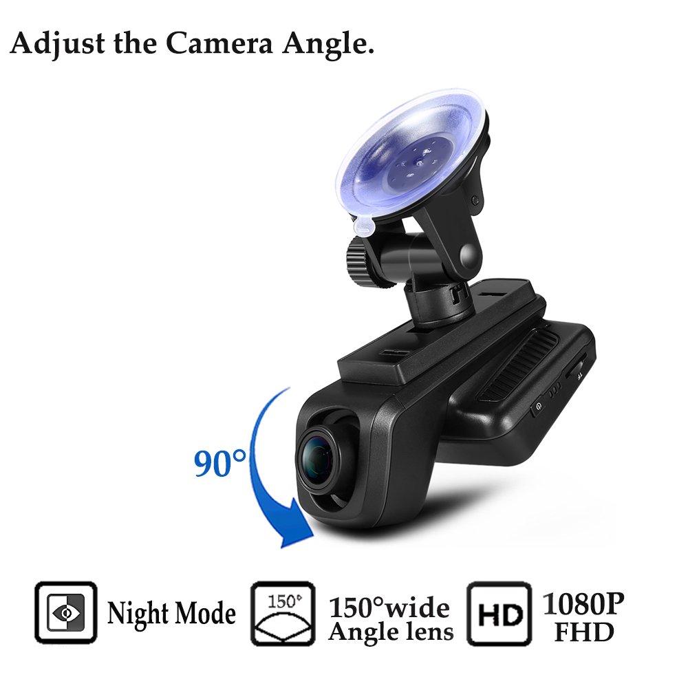 ZEEPIN Dash Cam WiFi Hidden 1080P Car Driving Recorder RS800 with 170 Degree APP Car Dashboard WDR Night Version