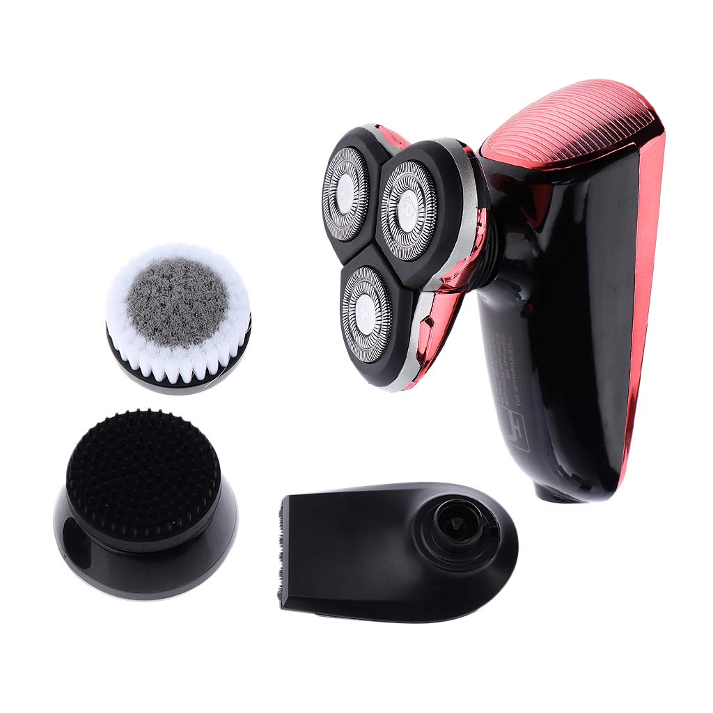 B Blesiya 4 In 1 Men Electric Rotary Shavers Bald Head Hair Clipper Facial Beard Trimmer Grooming Kit Waterproof Cordless USB Rechargeable