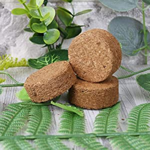 Xinzi Soil Peat Lightweight 5Pcs Compressed Base Flower Plant Breathable Bonsai Vegetable Plant Food Nursery Soil Seedling Soil(S)