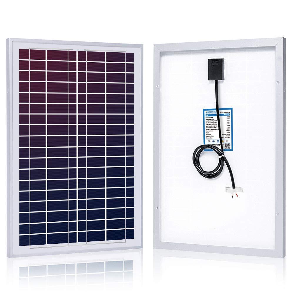 ACOPOWER® - Panel solar fotovoltaico fotovoltaico de 60 W y 60 W con MC4 para carga de batería de 12 V: Amazon.es: Industria, empresas y ciencia