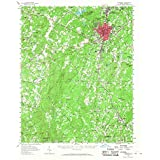YellowMaps Asheboro NC topo map, 1:62500 Scale, 15 X 15 Minute, Historical, 1957, Updated 1968, 21 x 17 in