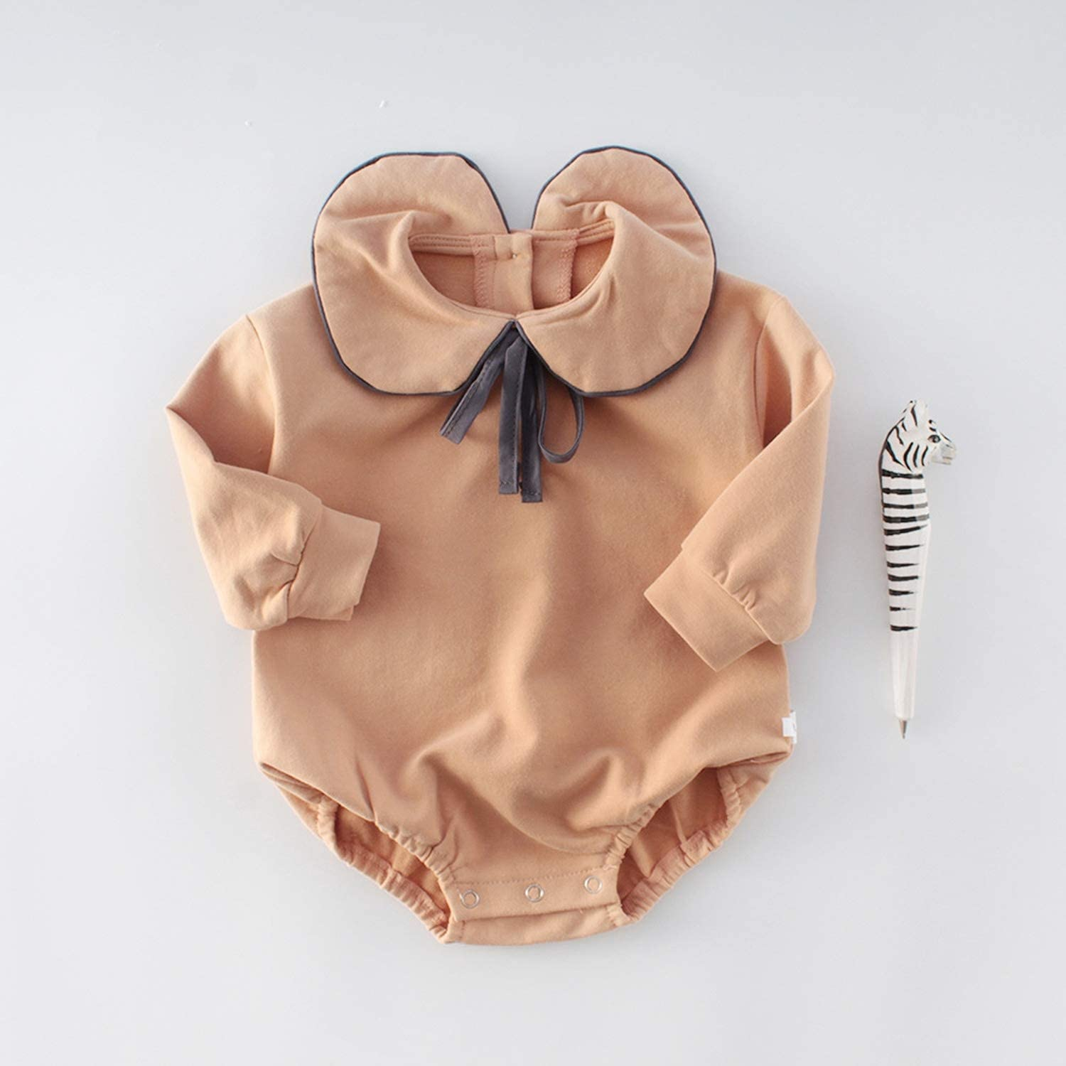 Feing Kids Sailor Collar Long Sleeve Bodysuit Jumpsuit Baby Girl Clothes