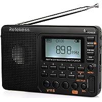 $24 Get Retekess V115 Portable AM FM Radio with Shortwave Radio MP3 Player Digital Record…