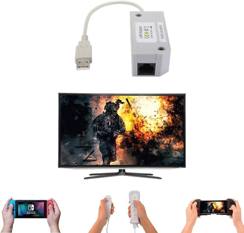StepWorlf Adaptador de red USB Internet Ethernet LAN Compatible para Nintendo Switch Wii Wii U AC1563: Amazon.es: Videojuegos