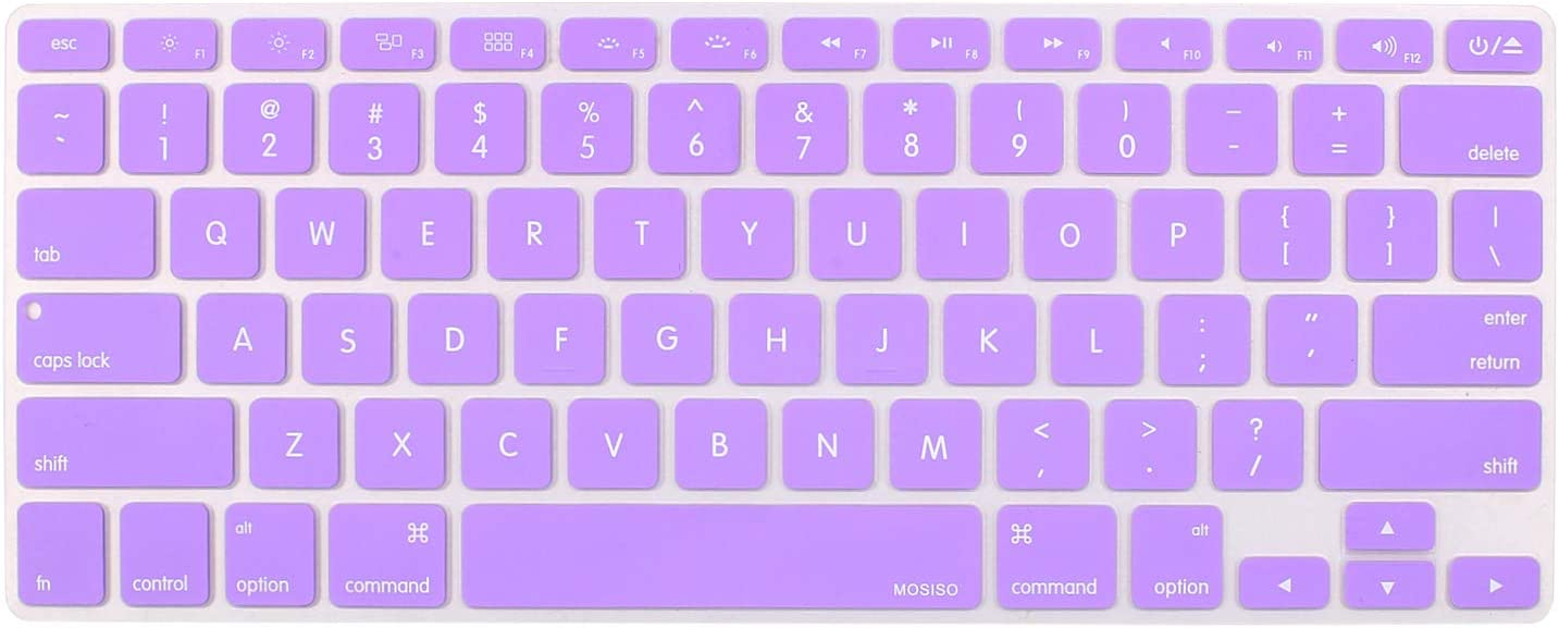 MOSISO Silicone Keyboard Cover Compatible with MacBook Pro 13/15 Inch (with/Without Retina Display, 2015 or Older Version),Older MacBook Air 13 Inch (A1466 / A1369, Release 2010-2017), Light Purple