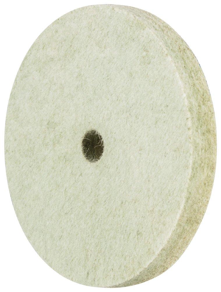 PFERD 48694 Brass Impregnated Felt Wheel 3'' Diameter x 3/8'' Width, 3/8'' Centre Hole, 8100 Max RPM (Pack of 5)