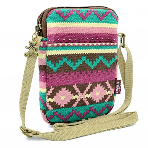 for Girls Phone Cute Cell Mini Cross Purse Purple Body Canvas Women Bag Pouch Wallet Lady bag Shoulder Mopaclle 6SqFxUU