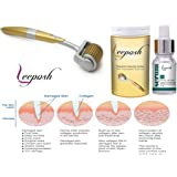 Lee Posh Dermaroller 0.5 Mm Size 192 Titanium Alloy Micro Niddle Roller System and Mesotherapy Serum-10Ml