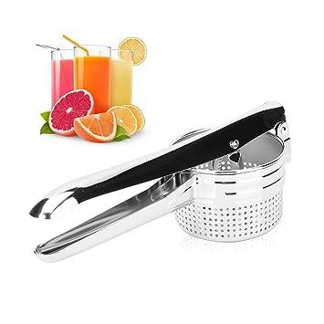 Exprimidor manual de limón, de acero inoxidable de alta calidad, exprimidor de limones/