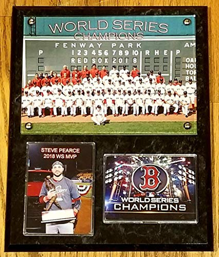 2018 Boston RED SOX World Series Champions Team SITDOWN Deluxe 8x10 Collector Photo Plaque