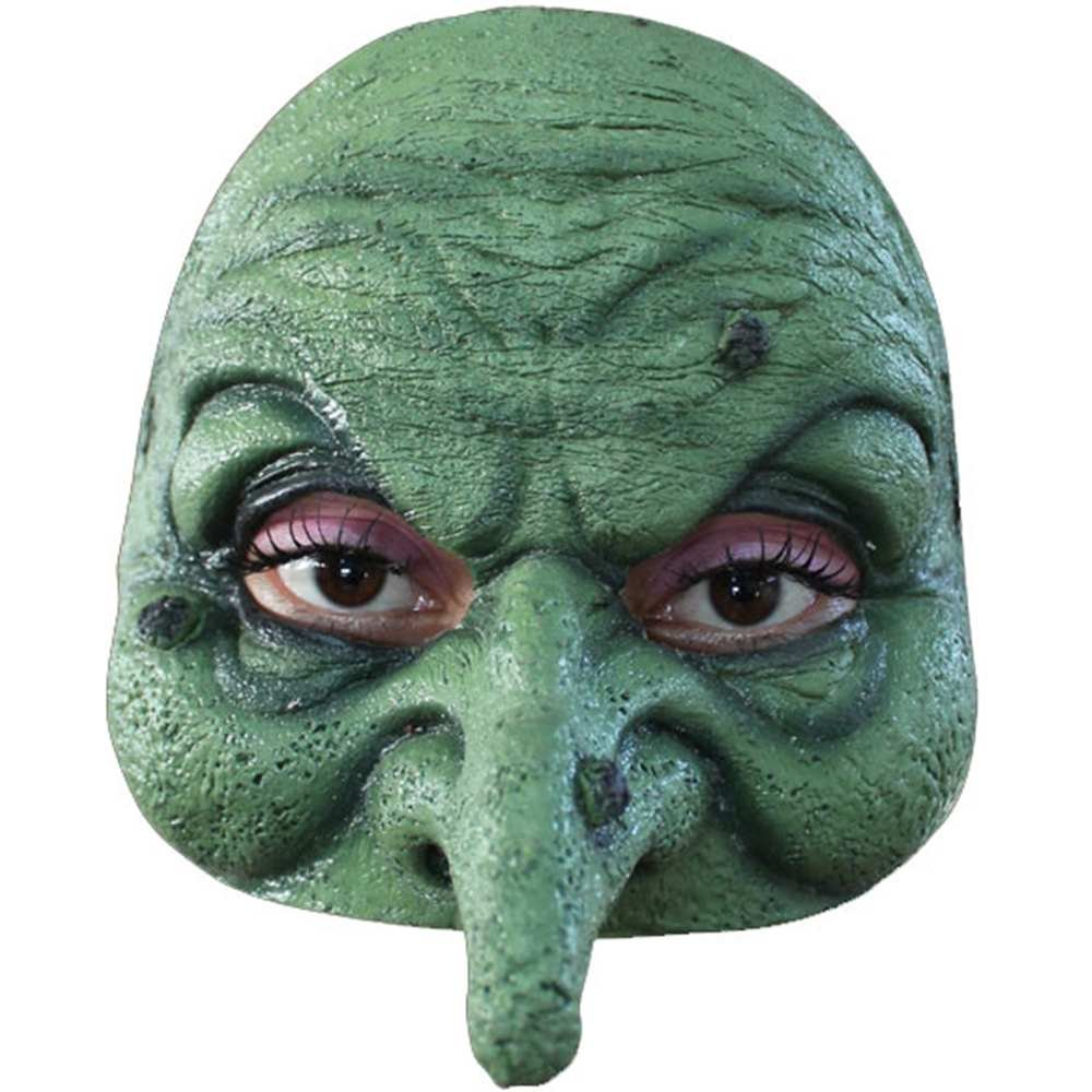 GHOULISH PRODUCTIONS Adult Witch Half-Mask HALF WITCH MASK MAHAL671