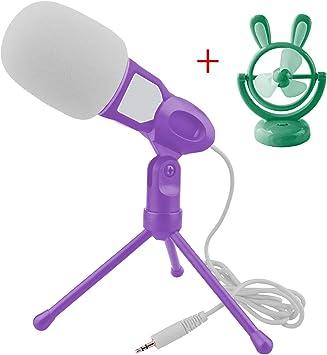 Generic sonido micrófono y ventilador USB, color morado: Amazon.es ...