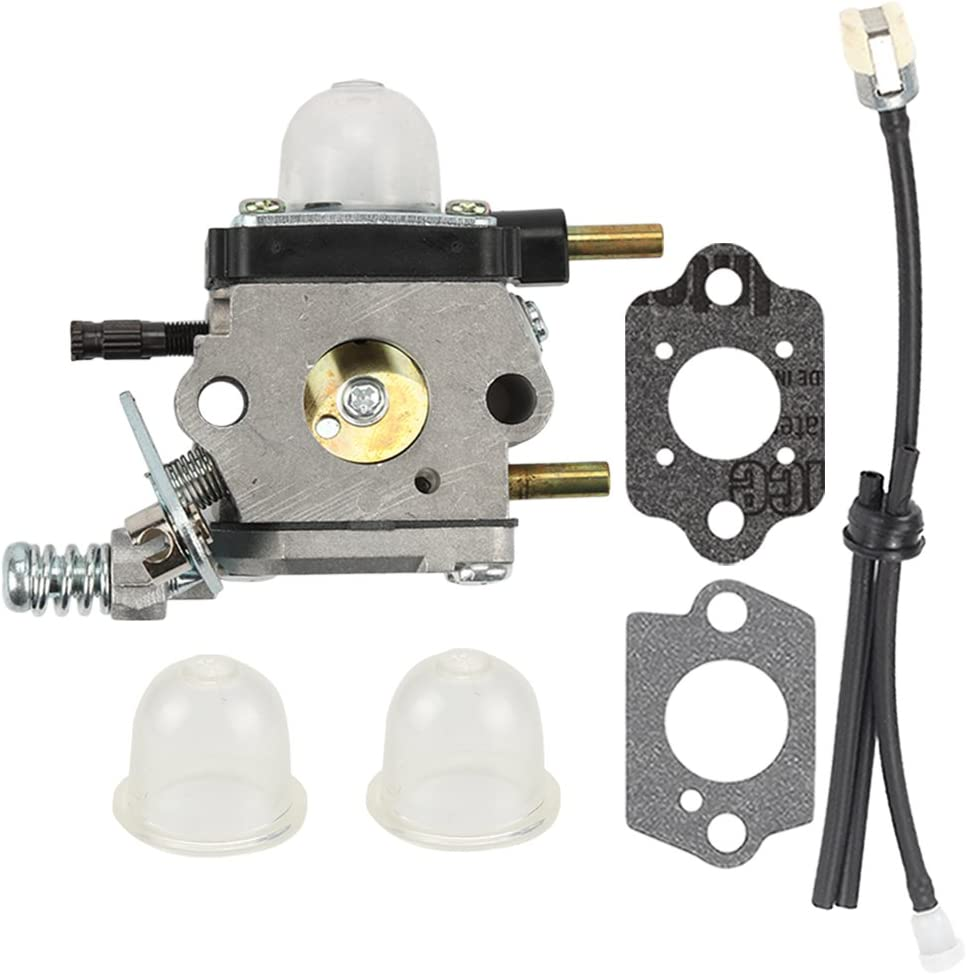Harbot C1U-K54A Carburetor With Gasket Air Filter Primer Bulb Repower Kit for Echo 2 Cycle Tillers TC-210 TC-210i TC-2100 SV-6 SV-5H SV-5C SV-5Ci SV-4B LHD-1700 HC-1500 Cultivator 12520013122