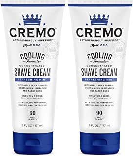 product image for Cremo Cooling Shave Cream, Astonishingly Superior Smooth Shaving Cream Fights Nicks, Cuts And Razor Burn, 6 oz, 2-Pack | ⭐️ Exclusive