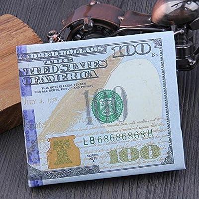 Hemlock Dollar Bill Wallet, PU Leather Wallet Credit Card Photo Wallet Purse