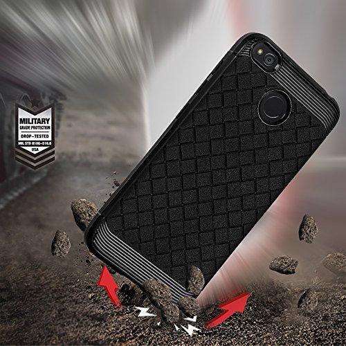 Durable patrón de TPU suave de nuevo caso para Xiaomi Redmi 4X ( Color : Red ) Black