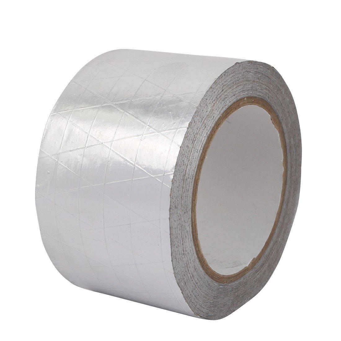 uxcell Aluminum Foil-Scrim-Kraft Insulation Jacketing Tape 20 Meter Length x 70mm Width