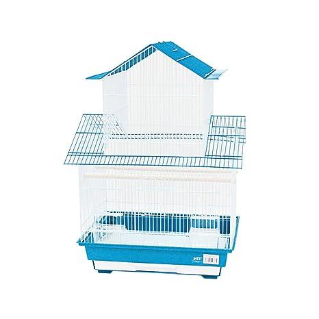 DZL® Jaula Pris Aves Medianas 46.5 * 36 * 69cm (Azul Claro ...