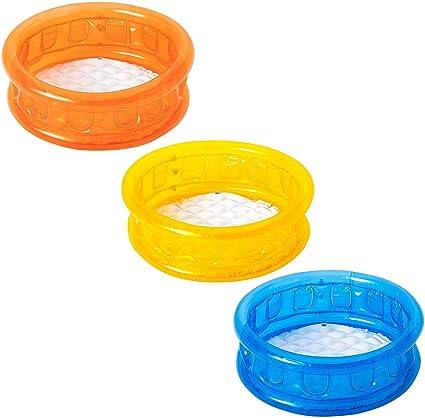 51112 Piscina inflable para niños en 3 colores fondo inflable ...