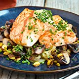 Halibut with Chayote with Bacon and Mushrooms by Chef d (Dinner for 2)