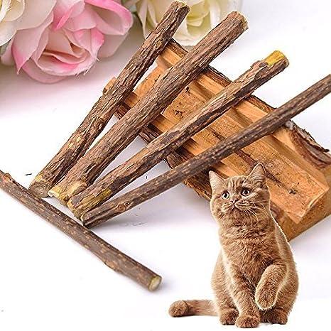Umiwe Catnip Matatabi,5 Palitos De Hierba Gatera De Matatabi para Gatos Natural Cuidado Dental