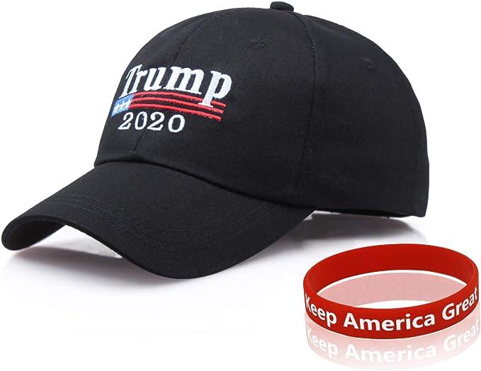 eBoutik Cappellino con scritta Keep America great 2020 Donald Trump Parrucca taglia unica