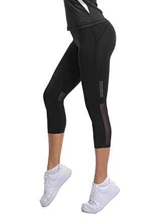 FITTOO Pantalon Yoga Court Legging de Sport Femme Pantacourt Collant 66af5c03cea