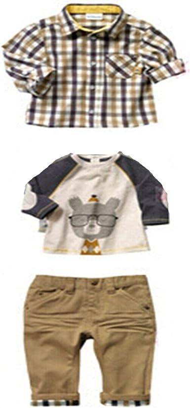 xuanangfangzhi - Camisa - para bebé niño Verde Caqui 90 cm: Amazon.es: Ropa y accesorios