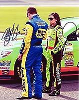 2X AUTOGRAPHED 2013 Danica Patrick & Ricky Stenhouse Jr. NASCAR Couple 8X10 Glossy Photo with COA by Trackside Autographs