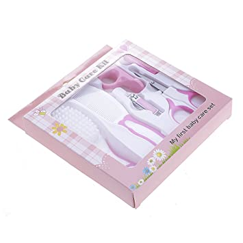 eae9daa1b40 VANKER 6 Pcs Baby Health Care Tool Kit Nail Hair Scissor Haircut Grooming  Set for Newborn